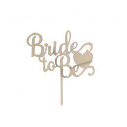Bride To Be Altın Pasta Süsü Kalpli