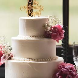 İncili Düğün Pastası Çiçekli