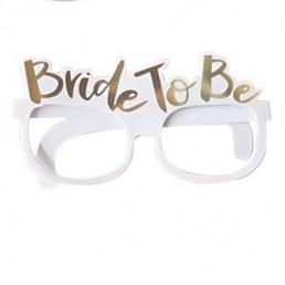 Bride To Be Karton Gözlük Beyaz Altın Yazı