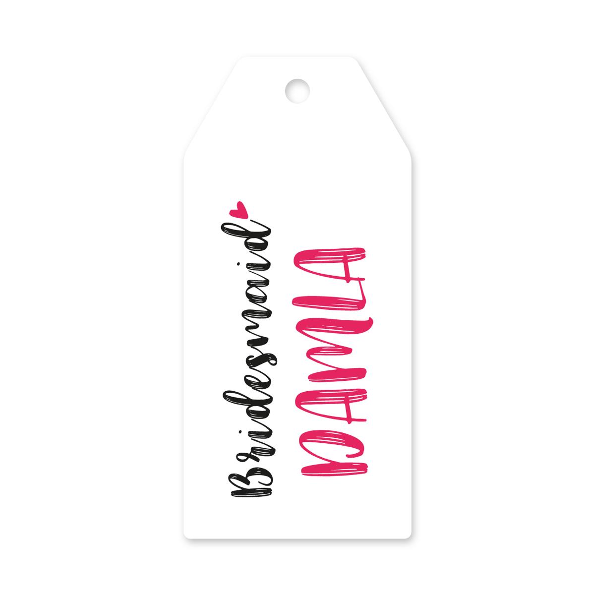 Bridesmaid Askı Etiket İsime Özel