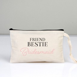 Friend Bestie Bridesmaid Makyaj Çantası Clutch