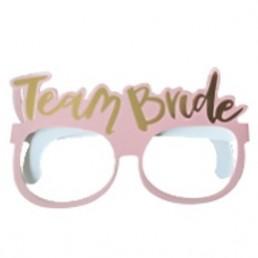 Team Bride Karton Gözlük Pembe Altın Yazılı